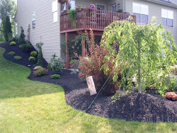 Landscaping hill | Backyard landscaping designs, Backyard ...