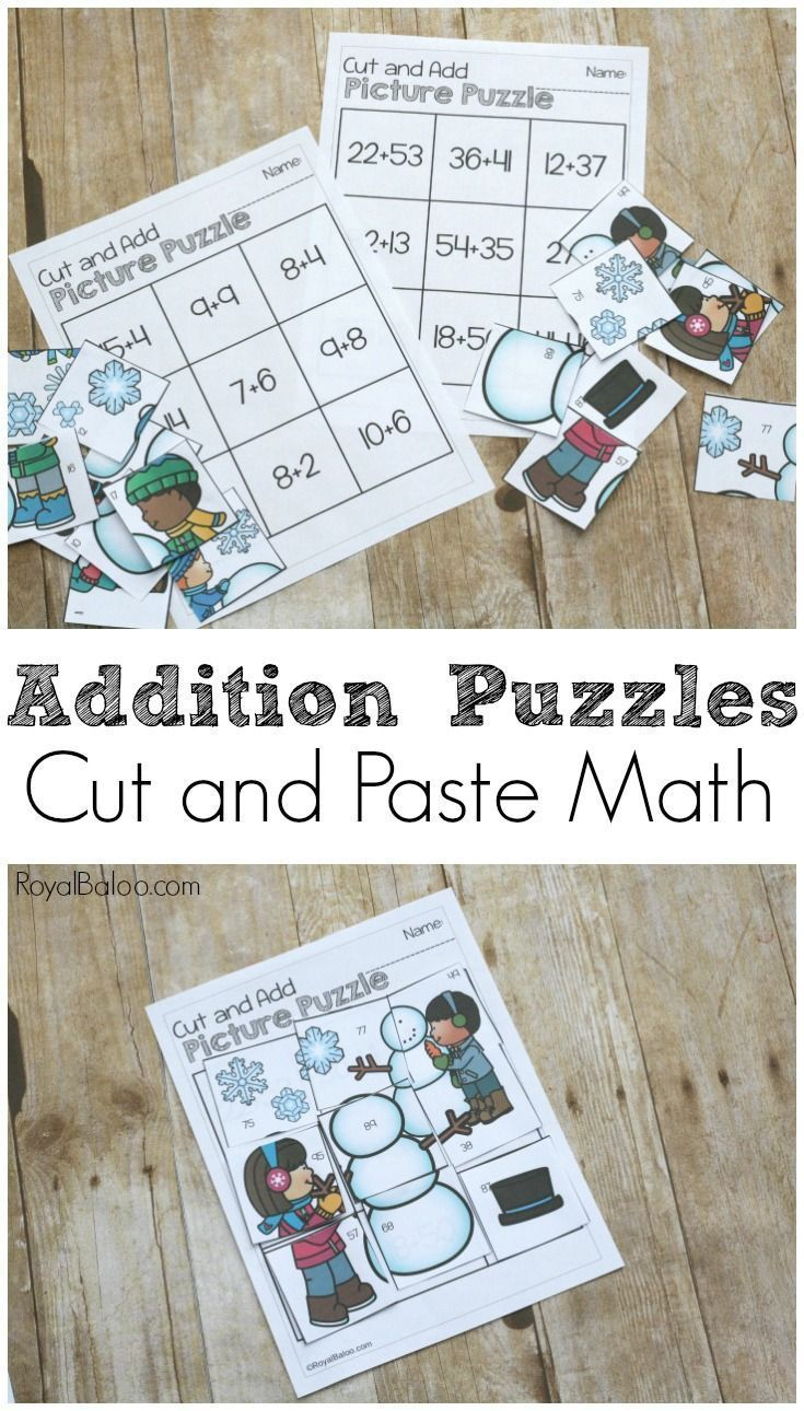 Winter Addition Puzzles are perfect for some quick math practice. No ...