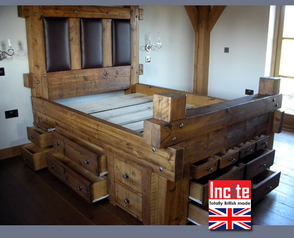 Plank Pine Sleeper Drawer Bed Plank Furniture Plank Pine