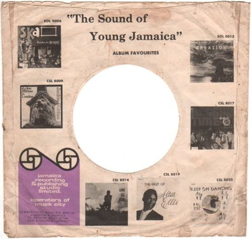 Jamaican Record Sleeve Vinyl Record Sleeves Record Sleeves Vinyl Record Art