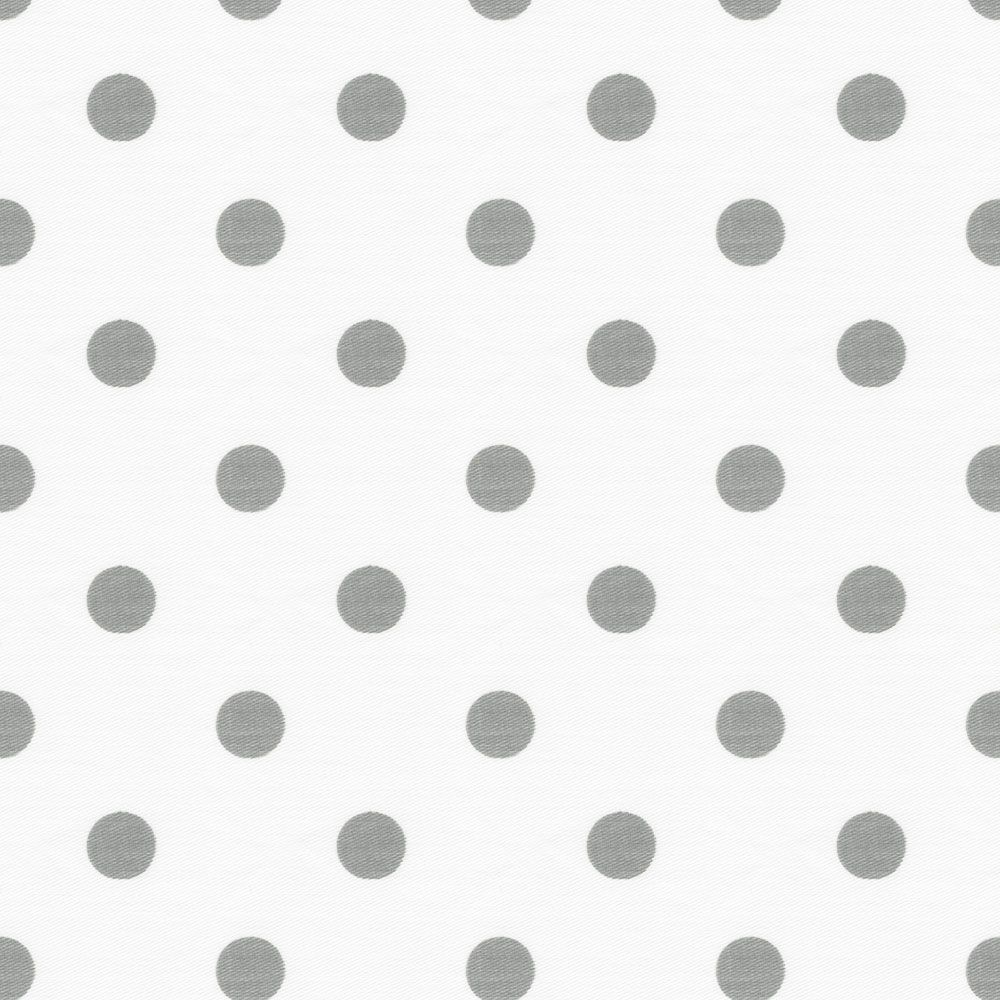White Gray And Blue Bedroom For Teen: White And Gray Polka Dot Cradle Sheet