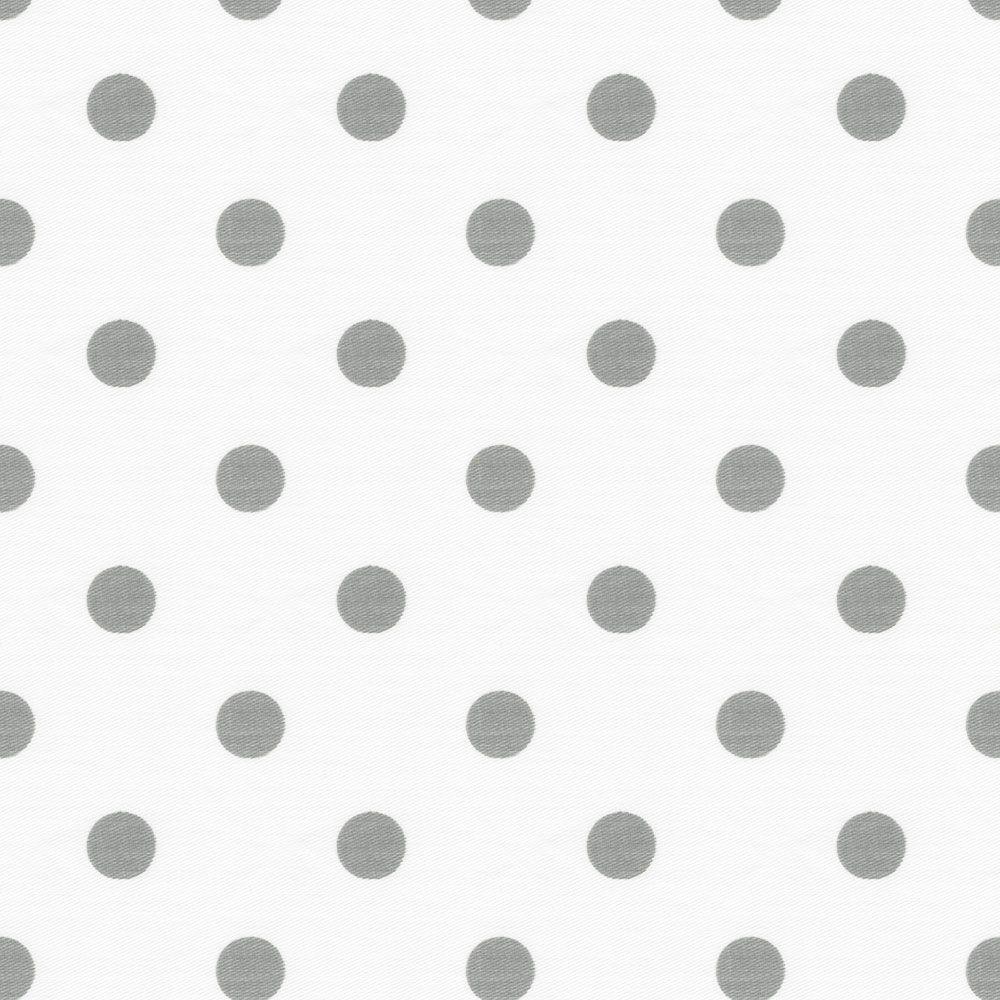 Gray and white polka dot curtains - White And Gray Polka Dot Cradle Sheet