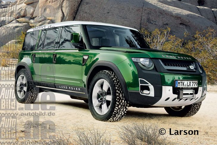 Rendering of the new Land Rover Defender