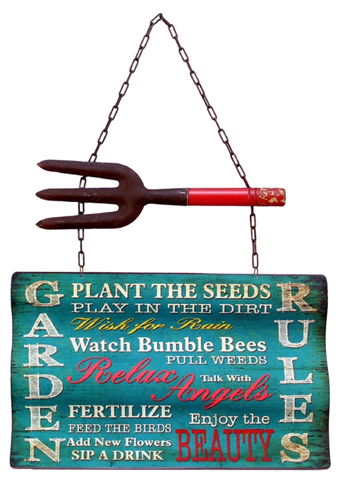Garden Plaques And Signs 75592 Blue