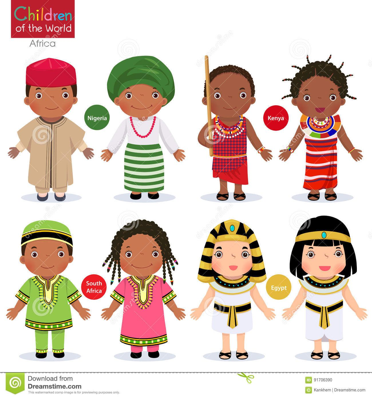International Paper Dolls Free Downloads  Kids In Different Traditional Costumes Nigeria -6021