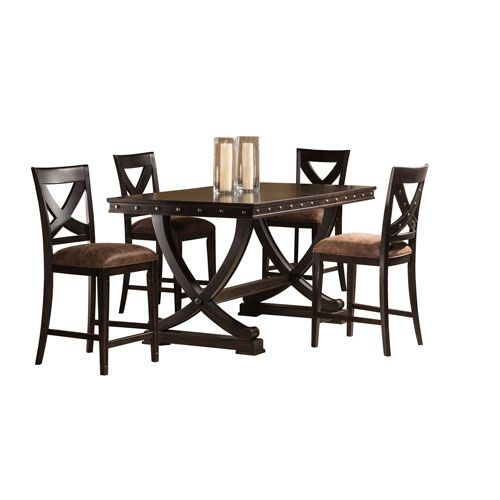 Santa Fe Espresso 5 Piece Counter Height Dining Set
