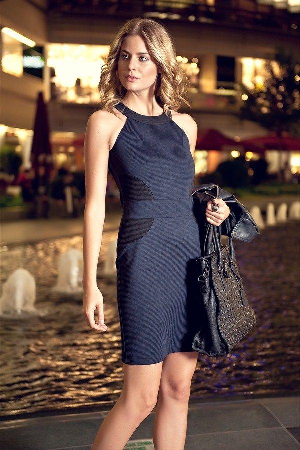 Milla By Trendyol Lacivert Elbise Mlwss1247001 54 Indirimle 54 99 Tl Trendyol Da Moda Stilleri Siyah Kisa Elbise The Dress