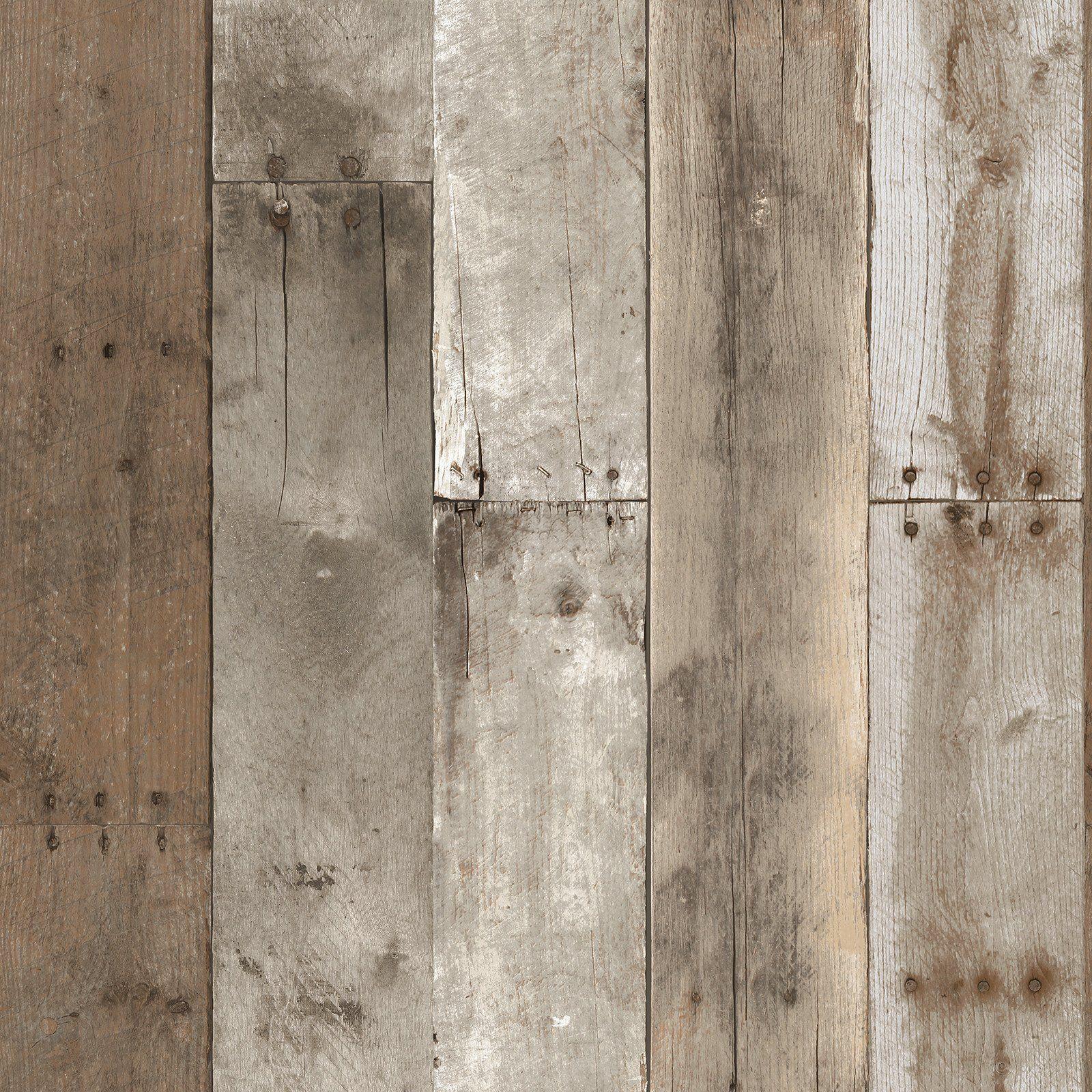 Sample Repurposed Wood Weathered Textured Self Adhesive Wallpaper By T Duvar Kagidi Duvar Dekor