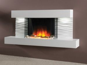 Essence Ador Starlight White Pebble Fire Led Suite Wall