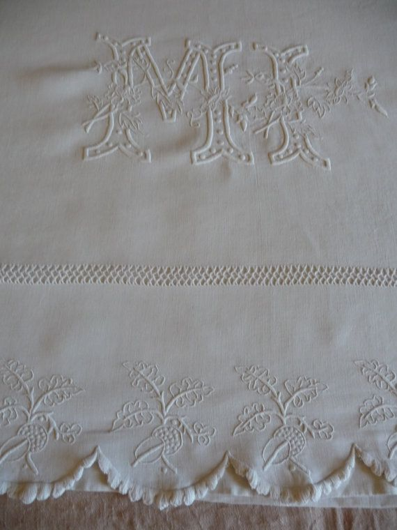 ANTIQUE LINEN SHEET French linen by vintagefrenchstyle on Etsy