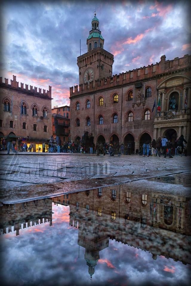 Bologna, piazza Maggiore ,foto di Massimo Matera