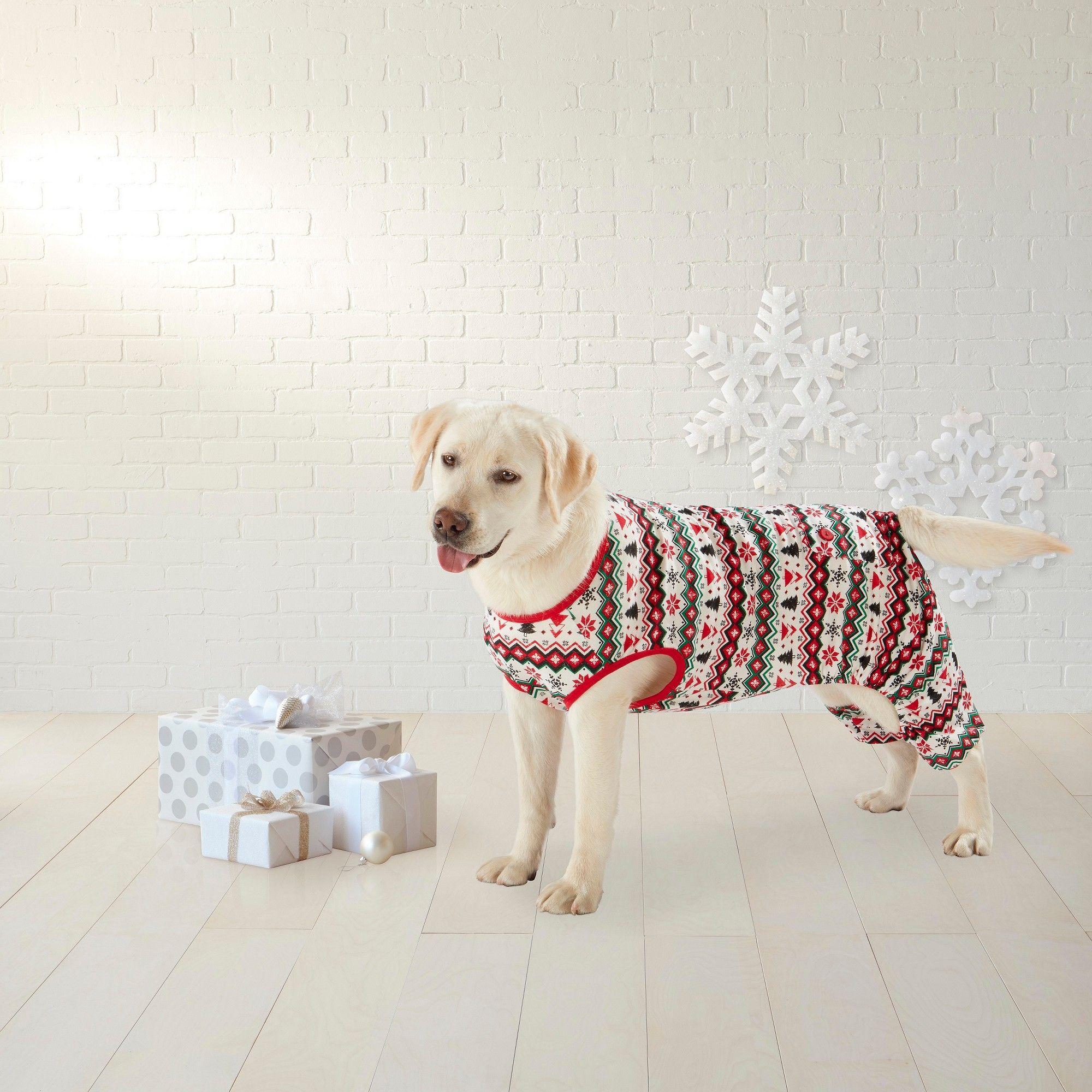 Fairisle PJs Pet Apparel Full Body Suit Medium