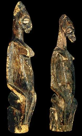 This very rare couple is coming from a grouping of three Bwa villages located in the area of San (area bordering on the Burkina Faso). The o...