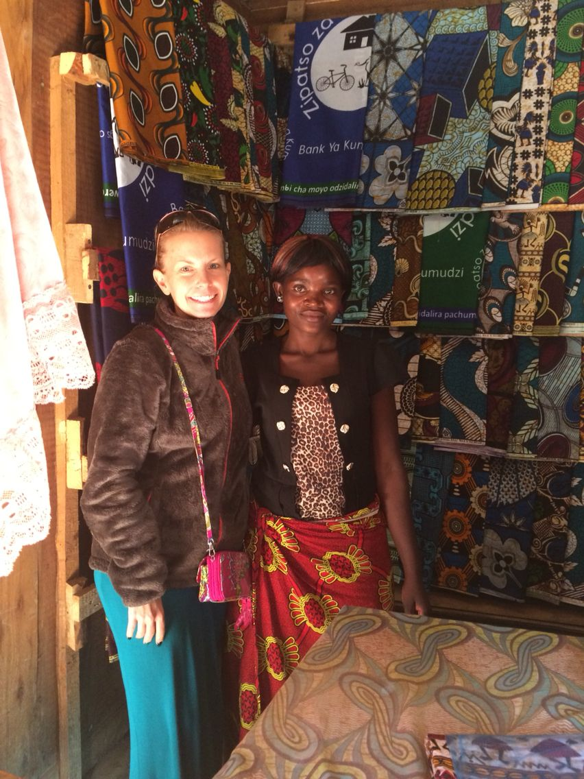 Fabric shop outside of Ntcheu, Malawi. Many treasures in the market!
