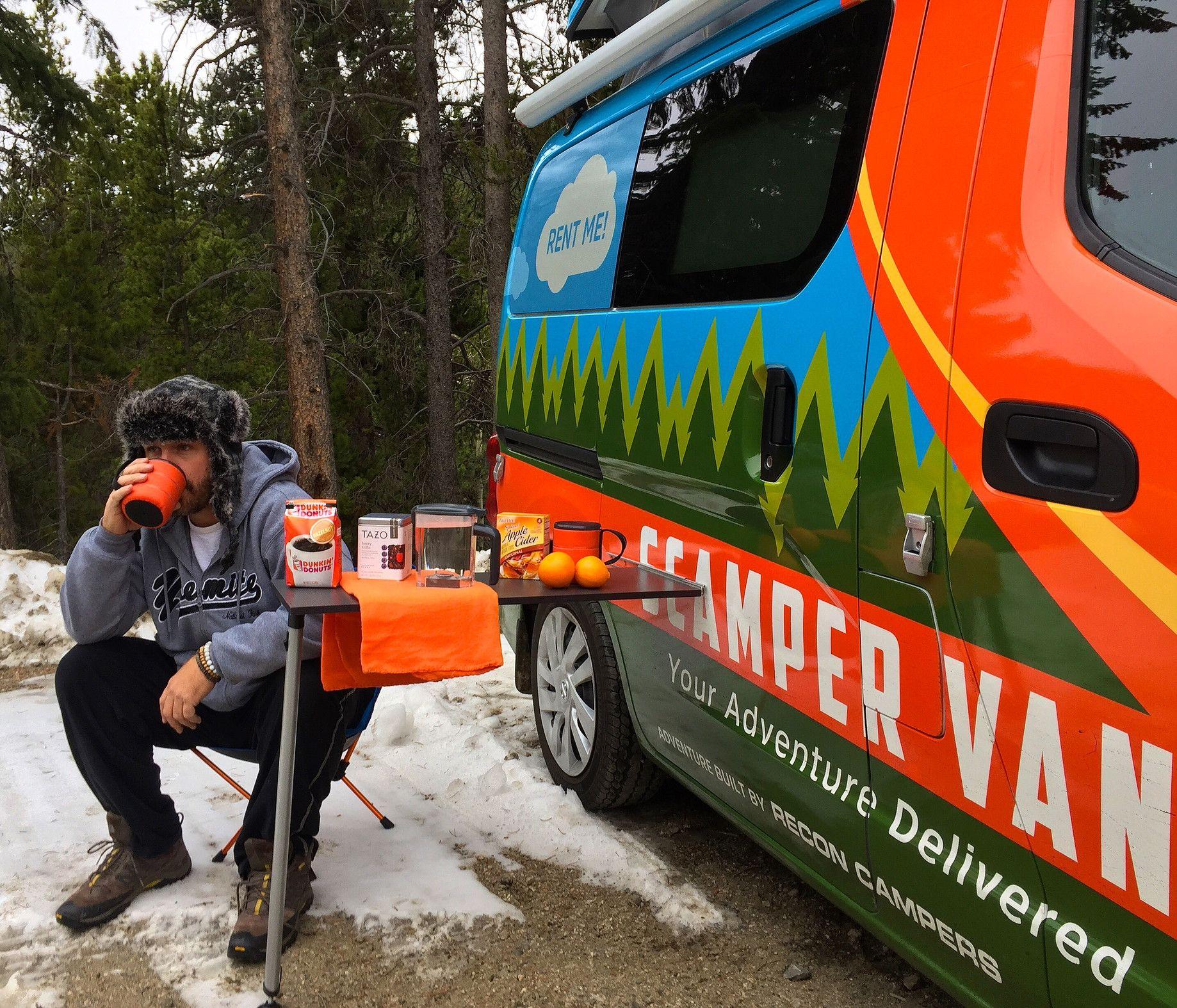 Camper rental in atlanta asheville scamper van