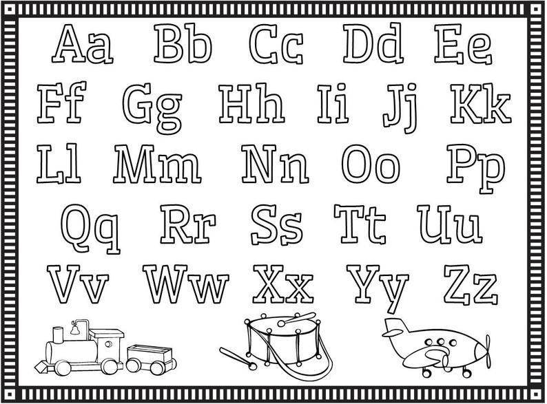 Coloring Pages Alphabet Numbers Shapes Preschool