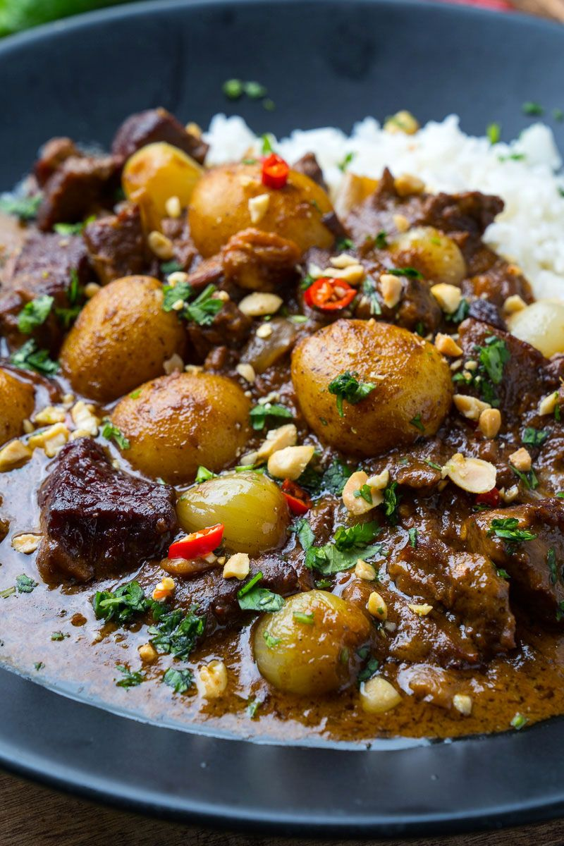 Beef Massaman Curry Recipe Beef Massaman Beef Massaman Curry Curry Recipes