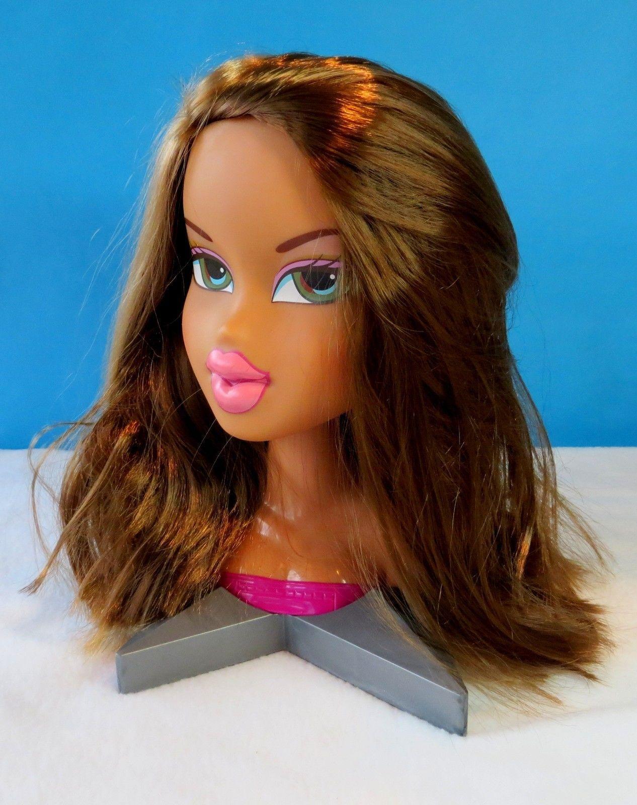 Super Rare 2002 Large Bratz Doll Moveable Styling Head Jasmin Super Cool Ebay Bratz Doll Style Makeover Dolls