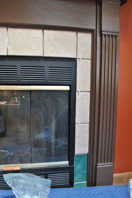 Do it yourself tutorial on how to retile a fireplace with new do it yourself tutorial on how to retile a fireplace with new ceramic tile solutioingenieria Choice Image