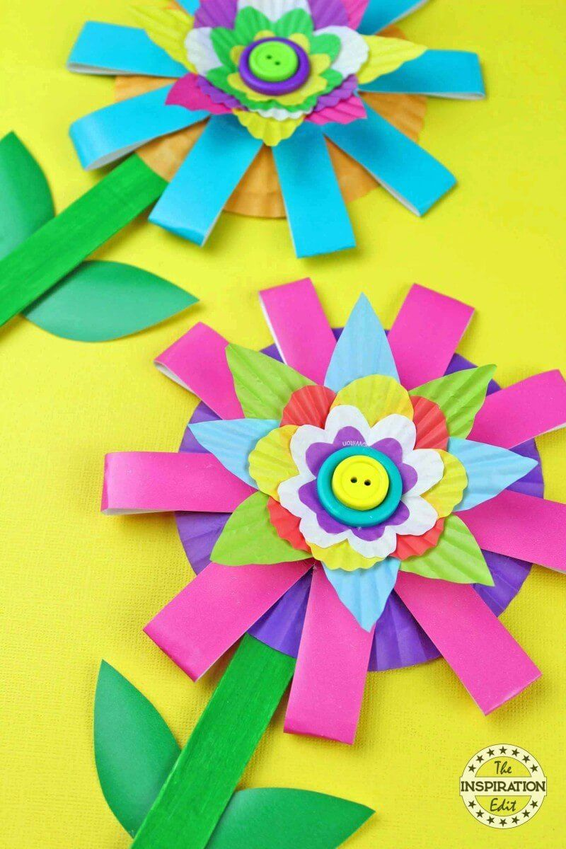 Paper cup flower craft kids will love pinterest flower crafts paper cup flower craft kids will love the inspiration edit paper cup flower craft for solutioingenieria Choice Image