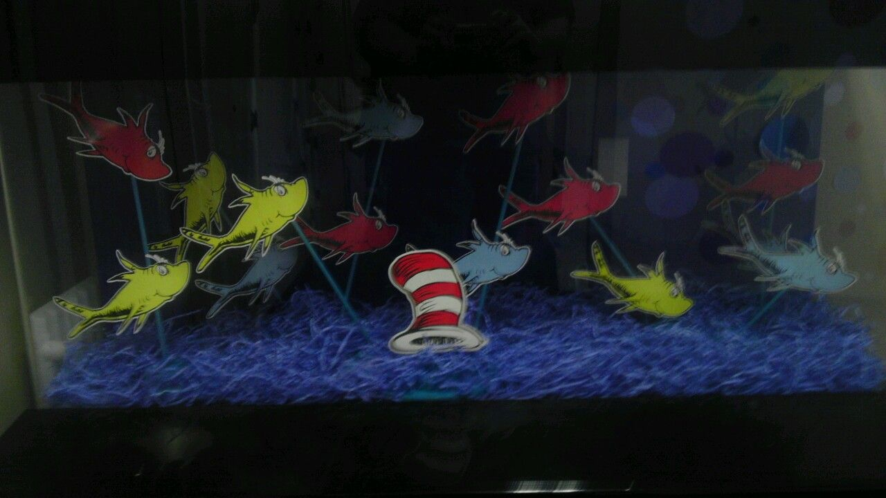 """"""" One fish, Two fish"""" designed by Jellybean Junction Designers & planners for events, Celebrations & parties, for Partners in Learnings'Seussical Summer theme"""