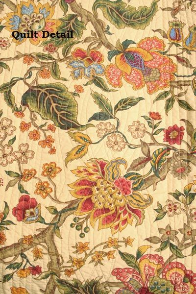 jacobean   Viviana Jacobean Floral Quilt detail   tangle, pen art ... : jacobean quilt - Adamdwight.com