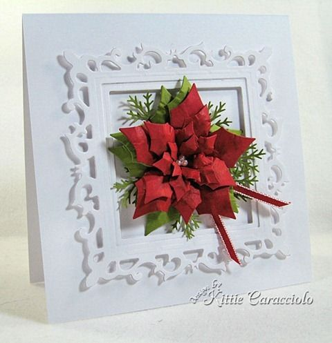 Poinsettias, Pine and Holly Card Making Tutorials with