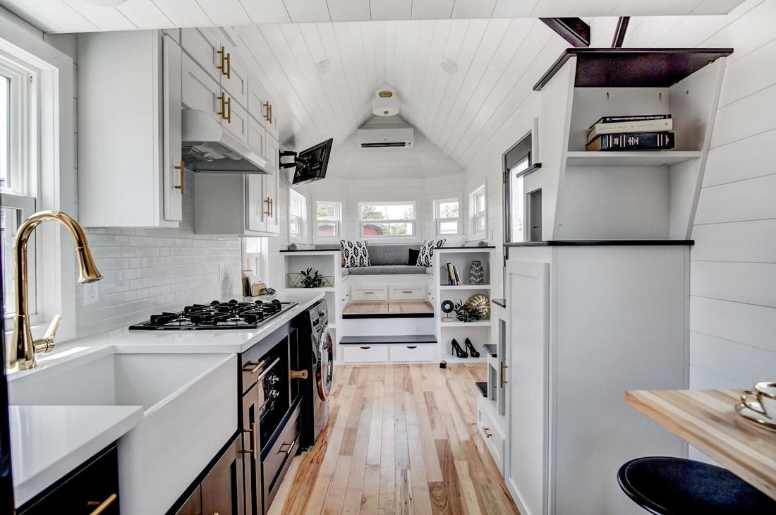 Beautifully Designed Tiny House With Luxury Kitchen And Spacious Living Area Idesignarch Interior Desi Tiny House Luxury Tiny House Decor Modern Tiny House