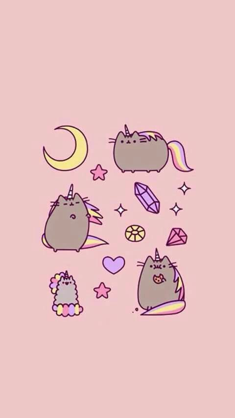 Pusheen Unicorn Wallpapers Image Art Cat Drawing Tumblr Backgrounds Background Wall Papers