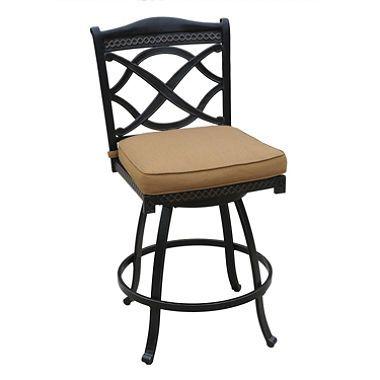 Patio Barstool With Sunbrella Fabric Cushion From Sam S Bar Stools Swivel Bar Stools Outdoor Patio