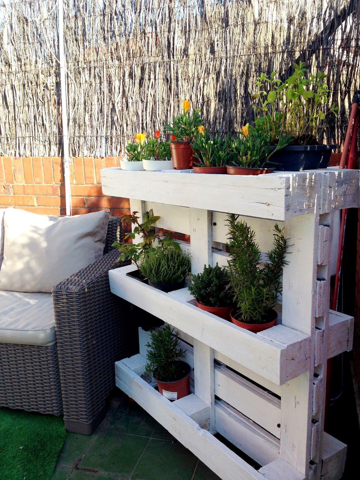 Rojosill n reciclar para hacer maceteros barza - Reciclar palets para jardin ...