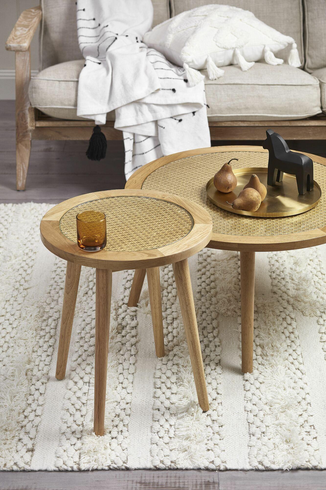 Light Oak Daintree Rattan Side Table In 2020 Rattan Side Table