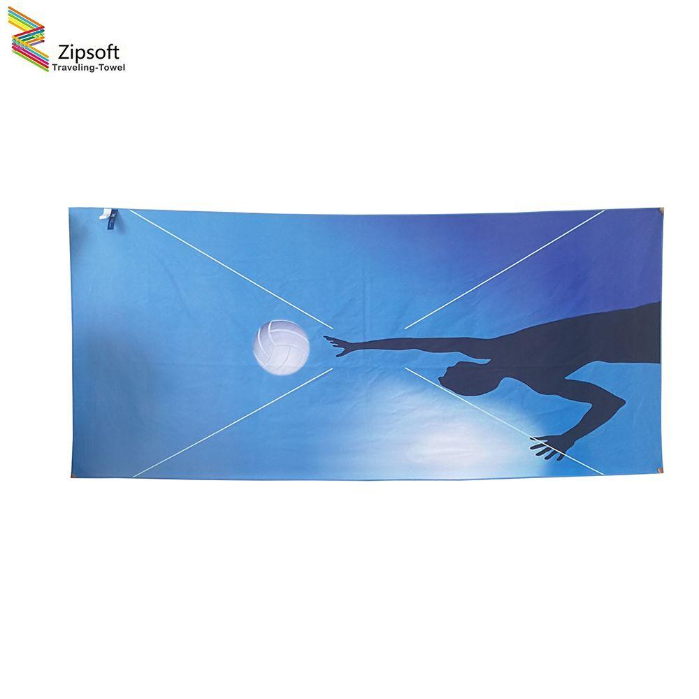 Zipsoft microfiber fabric beach towel cm large size printed