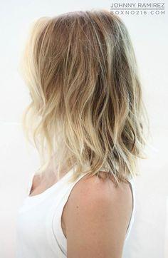 Light blonde balayage short hair
