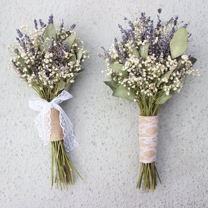 Lavender Bouquet Wedding Babies Breath Bouquet With Etsy Lavender Bridal Bouquet Dried Flower Bouquet Purple Bridal Bouquet