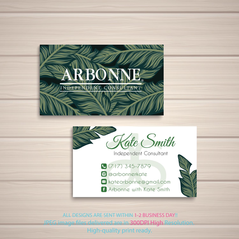 Personalized Arbonne Business Cards Arbonne Digital File Card Arbonne Consultant Arbonne Business Card Ab90 Arbonne Business Cards Arbonne Business Business Card Design