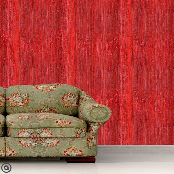 Removable Wallpaper Red Grunge Peel Stick Self Adhesive Fabric Temporary Wallpaper Repositionable Reusable Removable Wallpaper Temporary Wallpaper Wallpaper