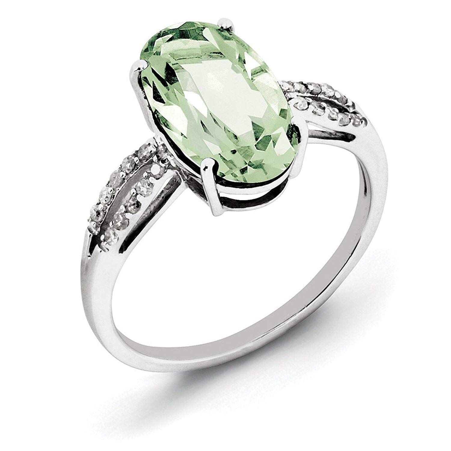 Majestic Sensation 1.25 cts Peridot Ring Sterling Silver Size 5 to 9