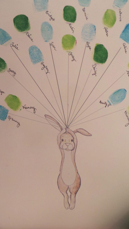 arbre /à empreintes digitales Cadeau de naissance personnalis/é pour baby shower