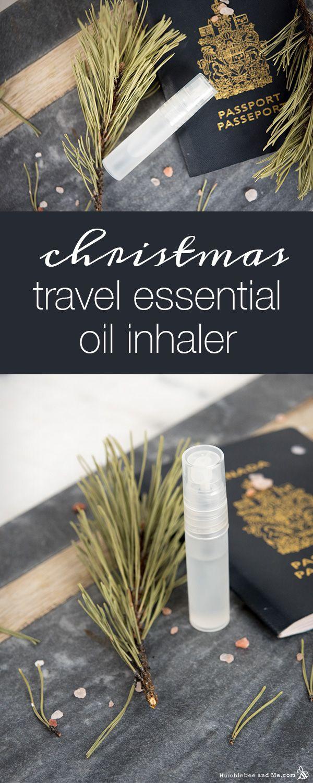 Christmas travel essential oil inhaler essential oil inhaler