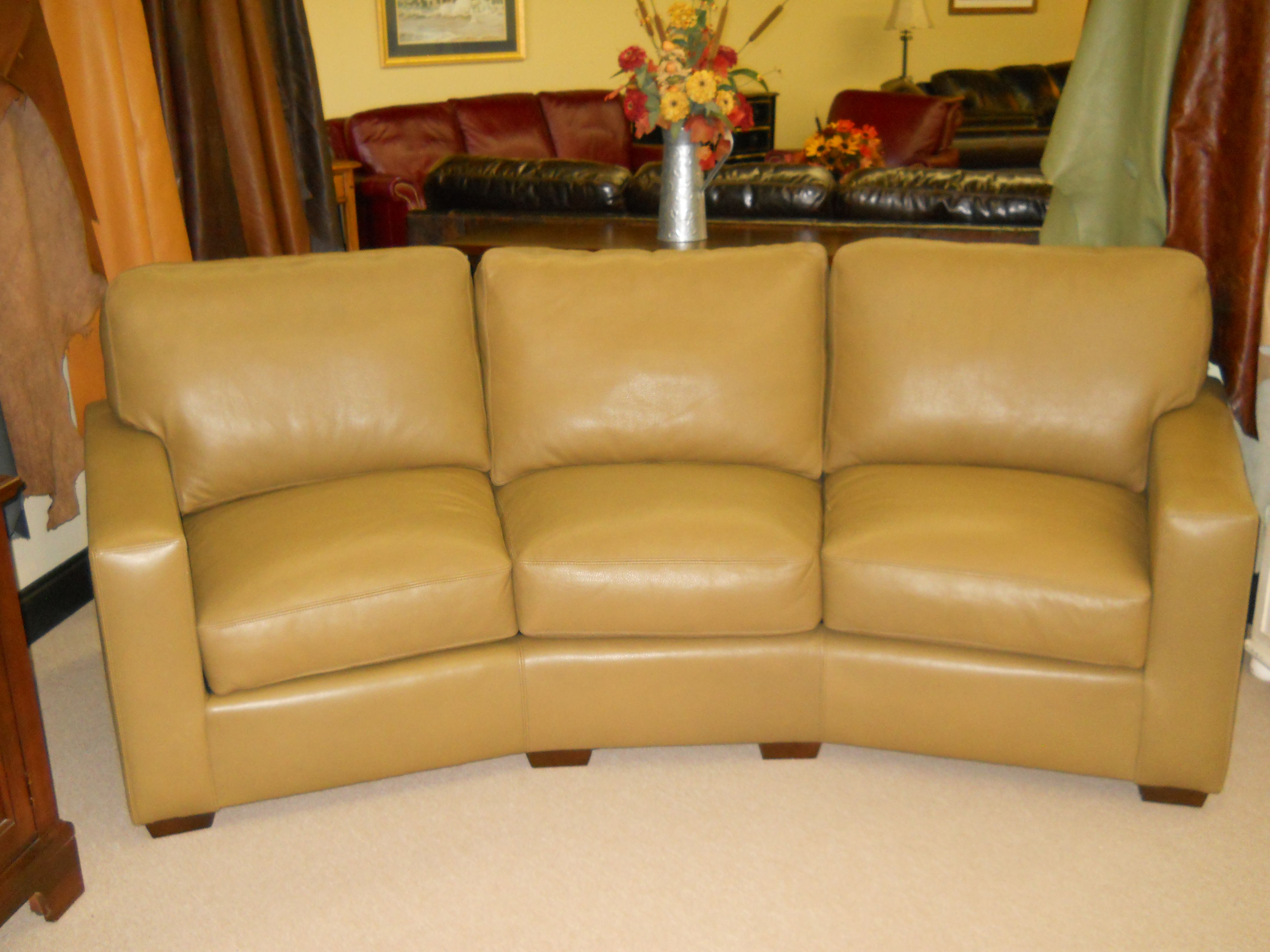 Conversation Sofa In A Very Soft Bison Leather What A
