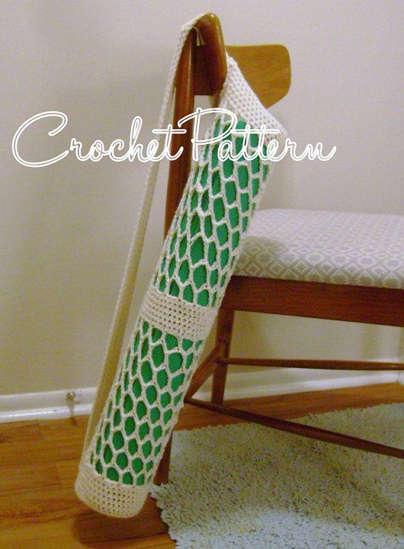 Yoga Mat Bag Pattern Crochet Pattern Only Etsy In 2020 Yoga Mat Bag Pattern Knitting Bag Pattern Diy Crochet Patterns