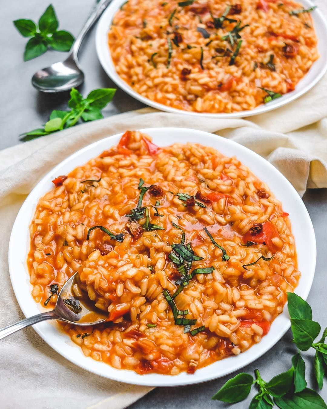 Vegan Recipes On Instagram Tomato And Basil Risotto By