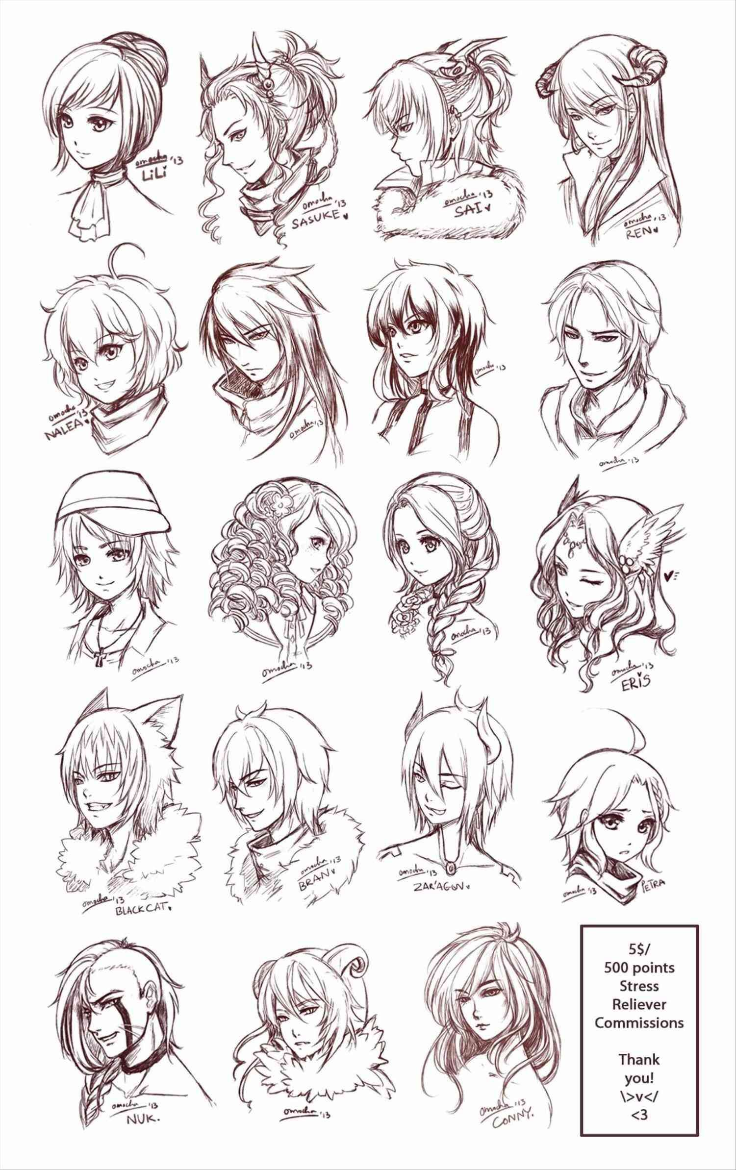 Hairstyles For Short Hair Drawing Sketch Head Drawing Sketches Sketches