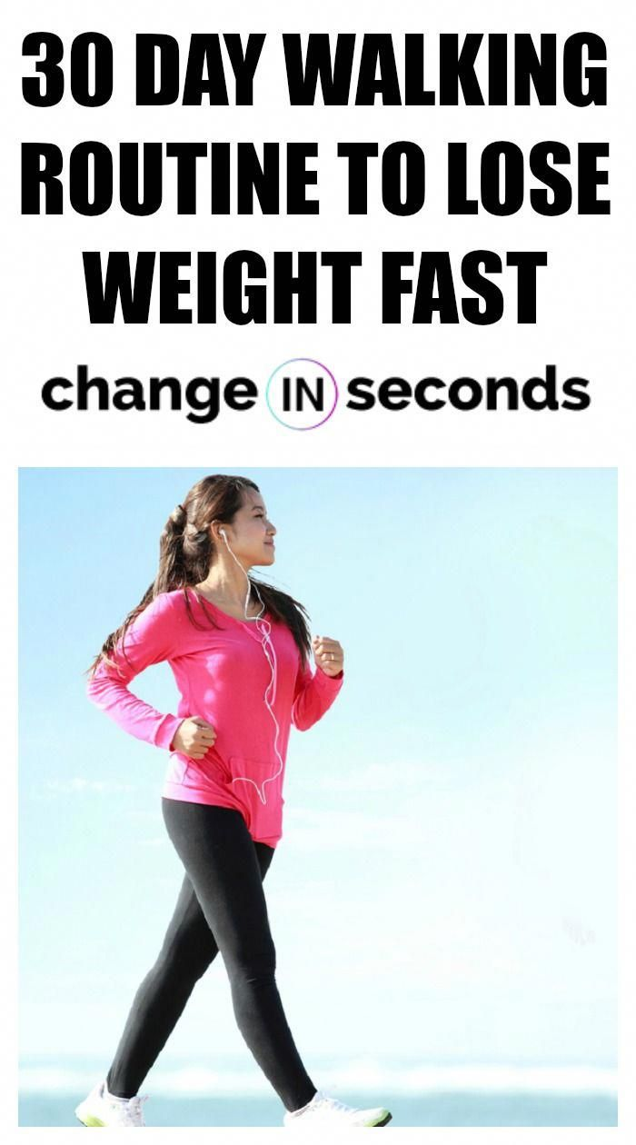 30 Day Walking Routine To Lose Weight Fast! Print our PDF today! #walkingroutinestoloseweight, #walk...