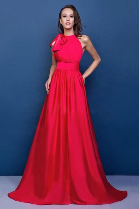 CLICK IMAGE TWICE FOR PRICING AND INFO:) #women #womendresses #eveninggown #cocktaildress #wedding #weddinggown #eveningdresses #prom #debut #partydress #bridesmaid SEE MORE scoop womens dresses at ZBRANDS.COM  Glamorous A-line Scoop Sweep Train Satin Bow Prom Dress SAL1886-TB