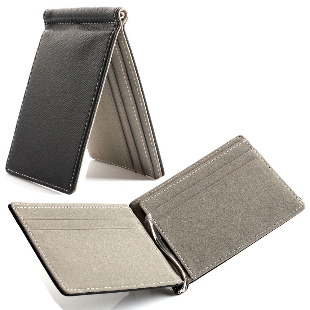 Men/'s Faux Leather Small Wallet RFID Slim Trifold Credit Card ID Holder Purse