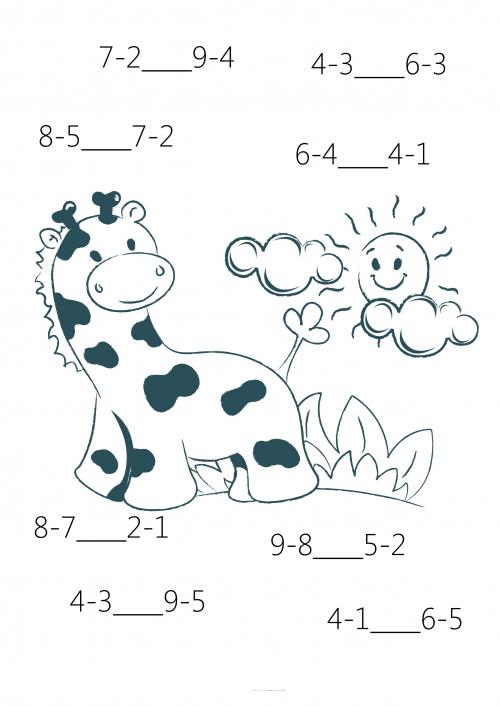 Comparison for 1st Grade #6 | Actividades de matematicas, La lengua ...