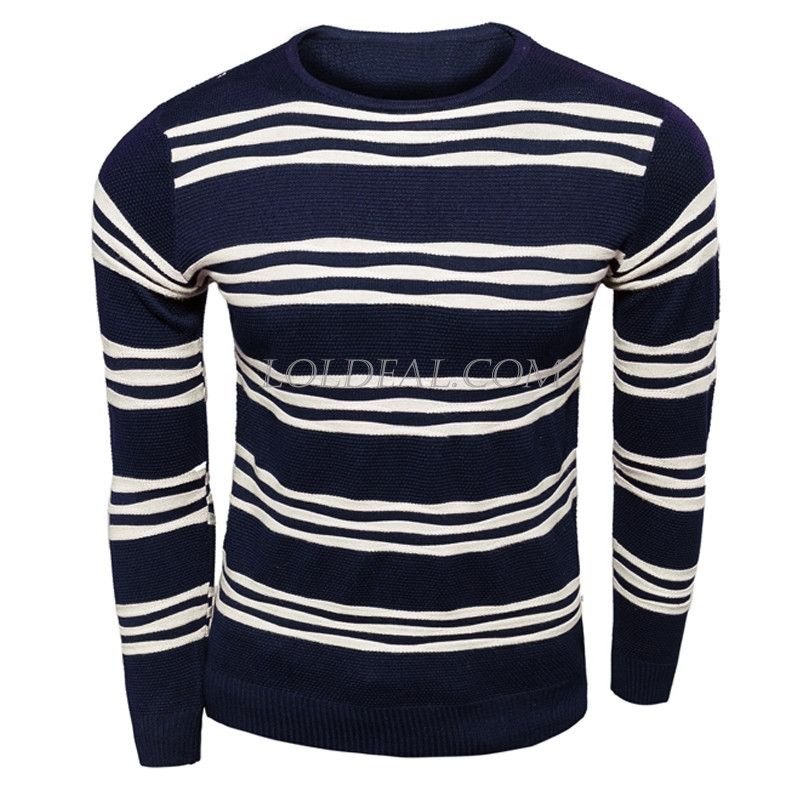 Loldeal:Global Online Shopping for Fashion Clothing | Global Free Shipping~ Men's V-neck striped Sweater – Loldeal