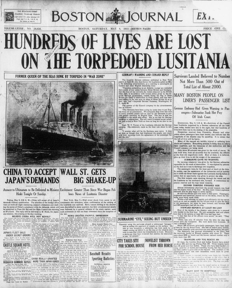 Rms lusitania wreck rms lusitania wreck quotes - On May 7 1915 The British Passenger Ship The Lusitania Was Sunk